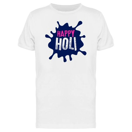 Logo Happy Holi Color Splash   Tee Men's -Image by Shutterstock (Happy Holi)