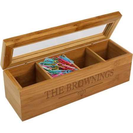 Personalized Wood Storage Box - Personalized Storage Bins