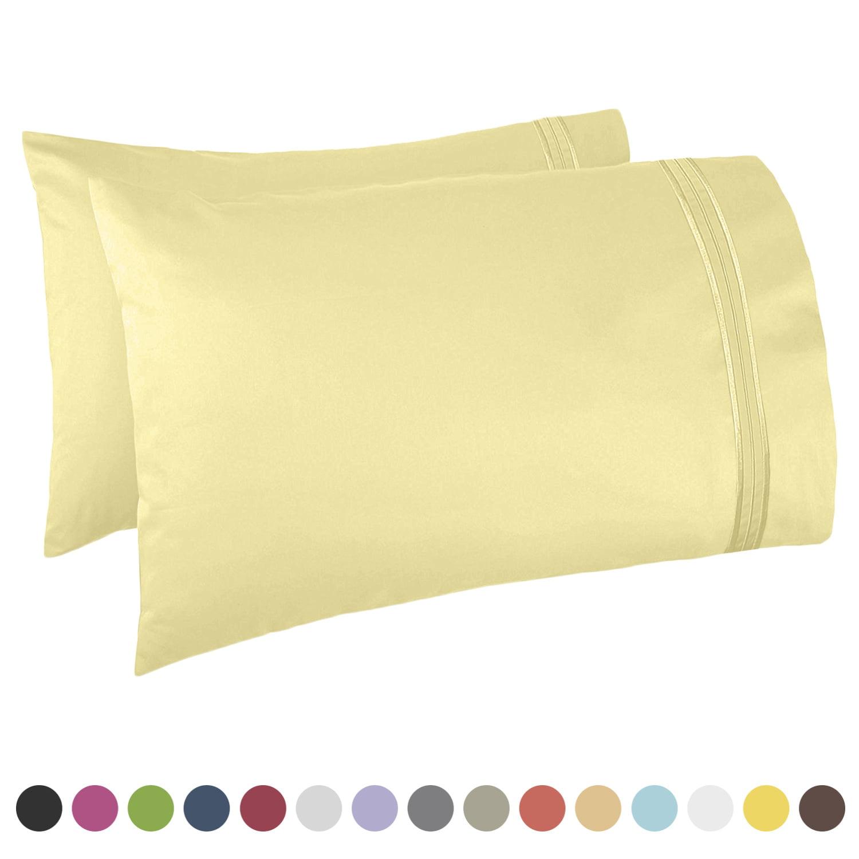 "Nestl Bedding Premier 1800 Pillowcase - 100% Luxury Soft Microfiber Pillow Case Sleep Covers - Hypoallergenic Sleeping Encasements - King Size (20""x40""), Aqua Light Blue, Set of 2 Pieces"
