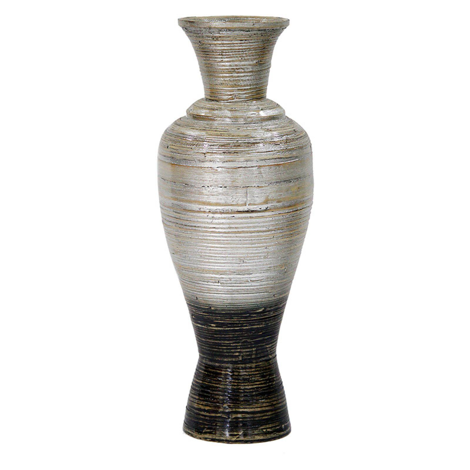 Heather Ann Large Spun Bamboo Decanter Vase