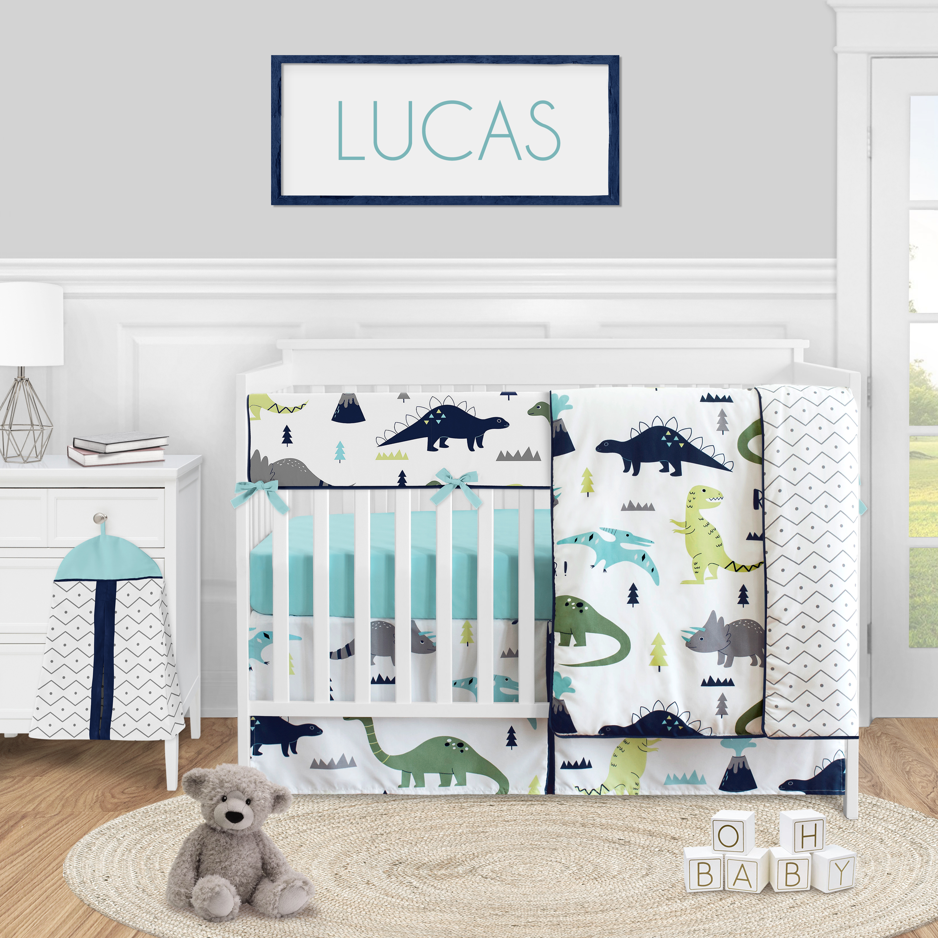 Sweet Jojo Designs Toddler Child Animal Print Microfiber Woven Bedding Sets Crib 5 Pieces Walmart Com