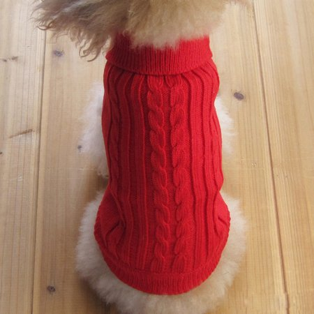 Pet Dog Cat Warm Coat Sweater Winter Cloth for Small Puppy M size