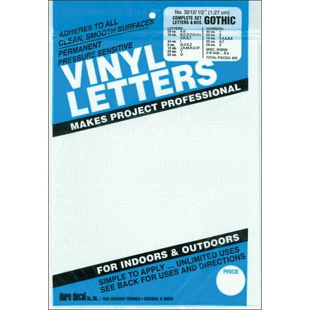 - Permanent Adhesive Vinyl Letters & Numbers .5