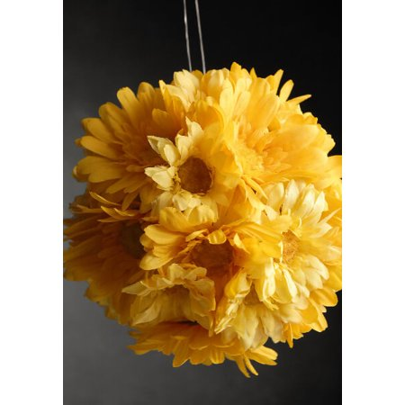 Yellow gerbera daisy silk flower ball 7 inch walmart yellow gerbera daisy silk flower ball 7 inch mightylinksfo