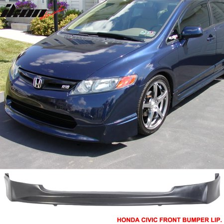 Civic 4dr 4 Door Sedan (Urethane Front Bumper Lip Spoiler 06-08 Honda Civic 4Dr Sedan Bodykit)