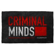 Criminal Minds Logo Bath Towel White 27X52