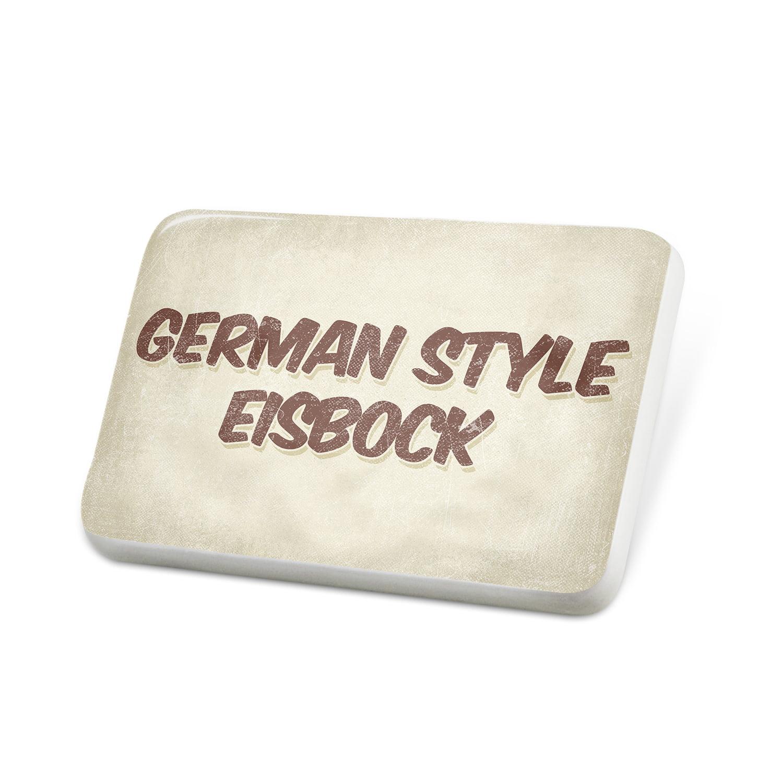 Porcelein Pin German Style Eisbock Beer, Vintage style Lapel Badge – NEONBLOND