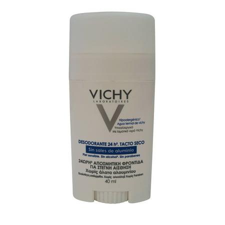 Vichy 24 Hour Deodorant Stick for Women, Sensitive Skin, 1.35 Oz