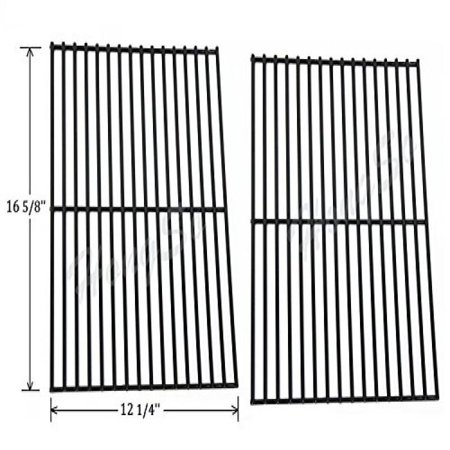 Hongso Pcb932 Porcelain Steel Centro  Charbroil  Front Avenue  Fiesta  Kenmore  Kirkland  Kmart  Master Chef  And Thermos Gas Grill Cooking Grid Cooking Grates Replacement  Sold As A Set Of 2