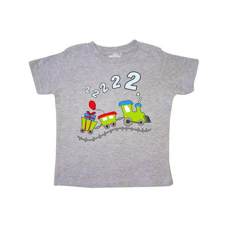 2nd Birthday Shirt (2nd Birthday Party Train Toddler)
