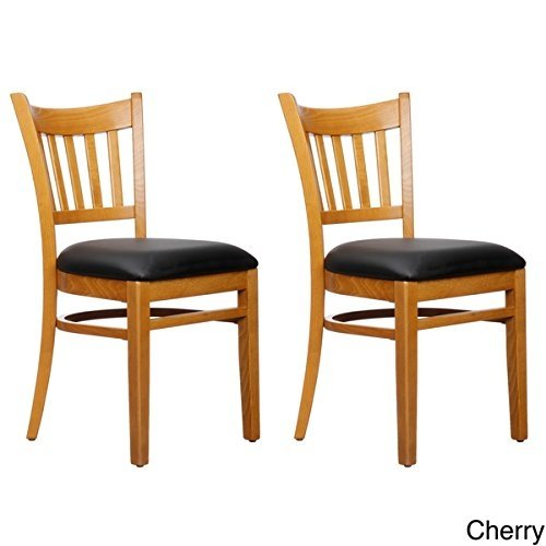 Beechwood Mountain BSD-4S-C Solid Beech Wood Side Chairs in Cherry for Kitchen and dining, set of 2 by Beechwood Mountain LLC.