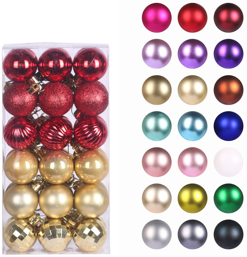 Christmas Ball Ornaments Xmas Clear Glass Ball with Hanging Loop Miniature Christmas Tree Decoration Glass Xmas Ball Great Crafts and Tree Decorating for Wedding Party Holiday King