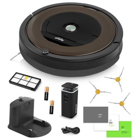 Irobot Roomba 890 Vacuum Cleaning Robot   Dual Mode Virtual Wall Barrier  With Batteries    3 Extra Side Brushes   Extra High Efficiency Filter   More
