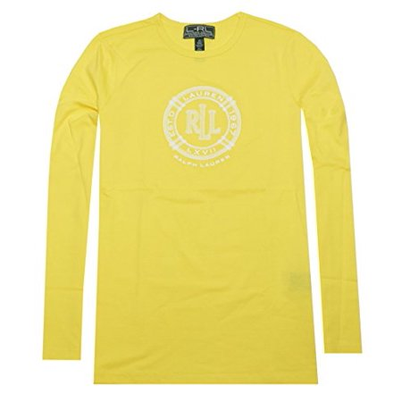 Lauren Ralph Lauren Active Long Graphic Sleeve Tee (X-Small, Harbor yellow)