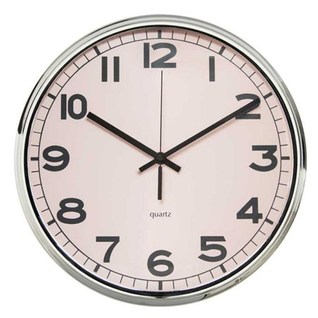 Polder Clock (Arospa 12 in. Modern Pastel Retro Curved Face Design Wall)