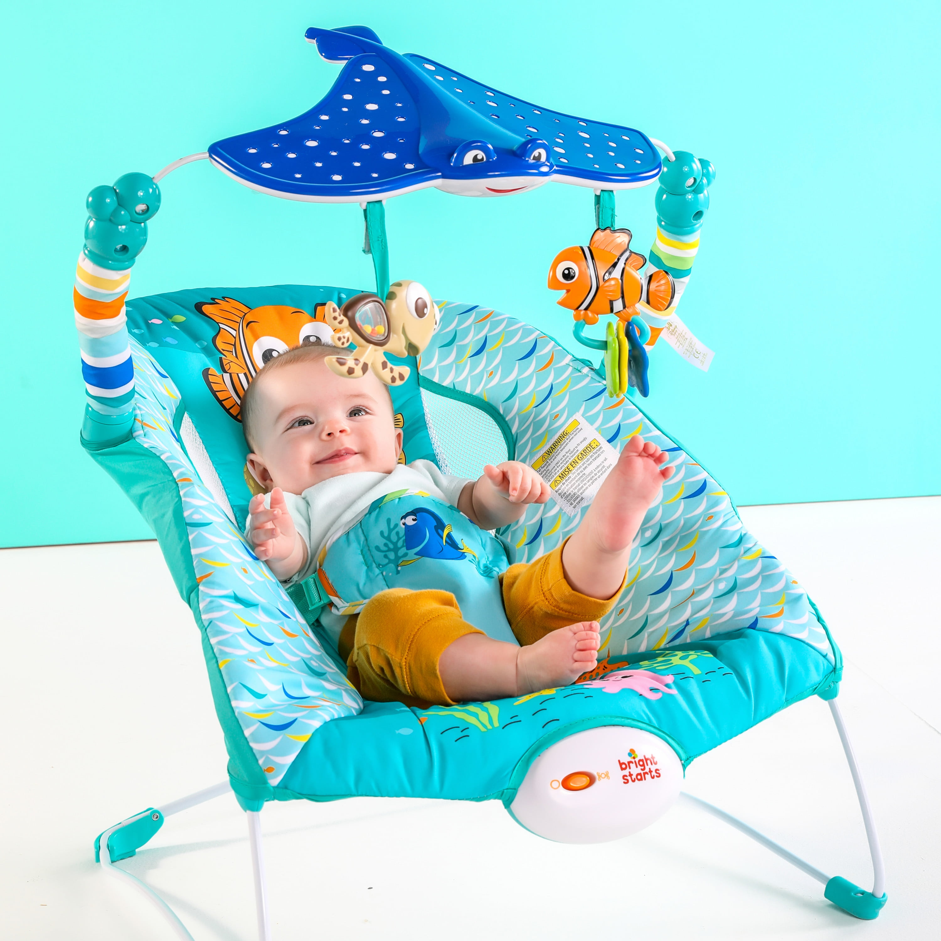 58bebaffe7f Disney Baby Finding Nemo Bouncer Seat - See & Swim - from Bright Starts