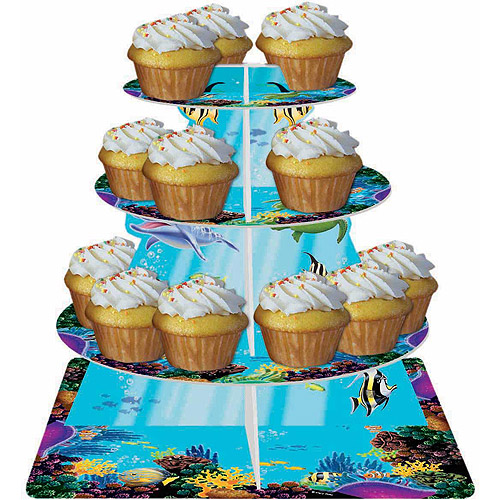 Creative Converting Ocean Party Cupcake Stand