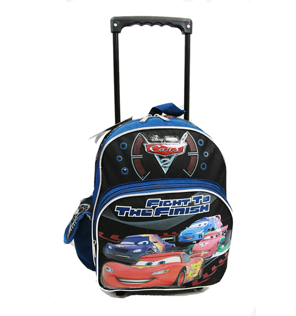 Small Rolling Backpack - Disney - Cars 2 - Fight to The Finish New Bag a00174
