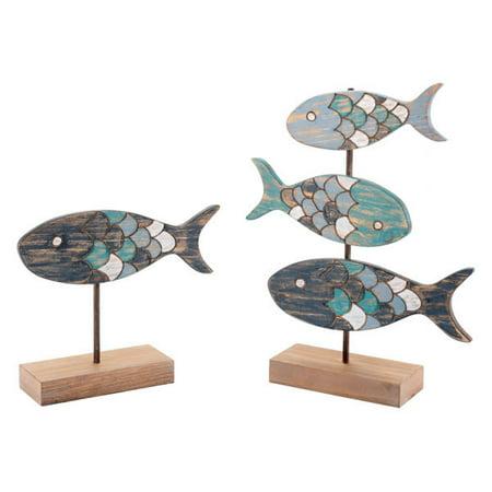 Set Of 2 Fish Figurines (Antique Fish)