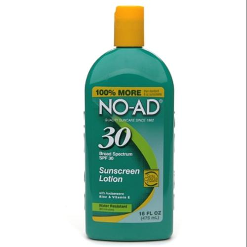 NO-AD Sunscreen Lotion, SPF 30 16 oz (Pack of 2)