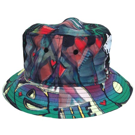 Joker Batman DC Comics Sublimation Fisherman Crusher Bucket Cap Hat - image 1 de 3