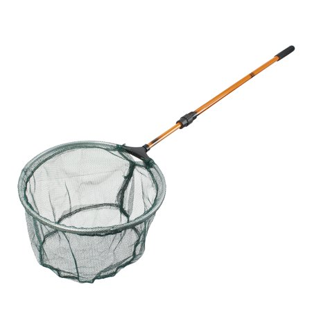 Fish Net Hose (Unique Bargains 26.6  x 0.6  Telescopic Handle Landing Net Fishing Fish Angler Mesh Extending Pole Orange)