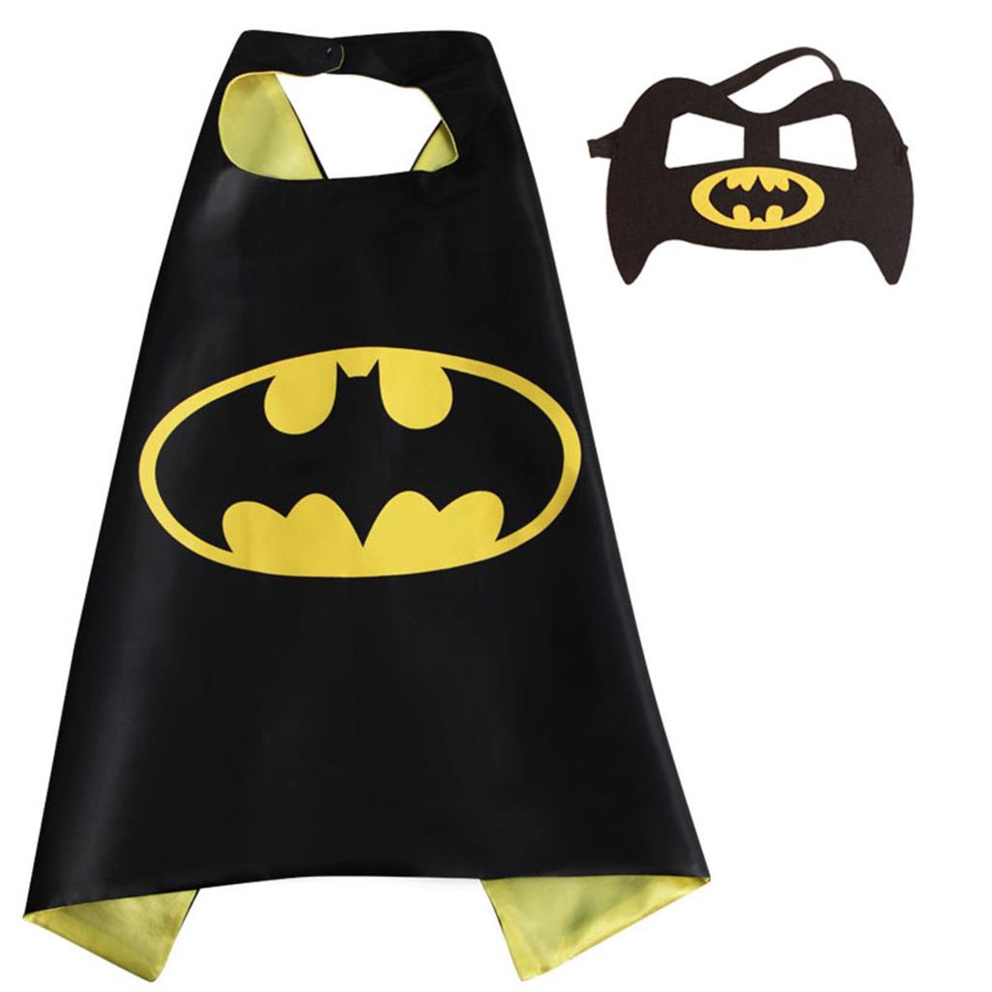 DC Comics Costume - Batman Bat Logo Cape and Mask with Gift Box by Superheroes