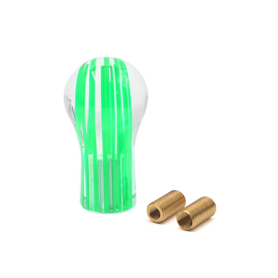 3.5 Inches Long Gear Shift Knob Lever Shifter Cover for Manual Car Clear Green by Unique Bargains