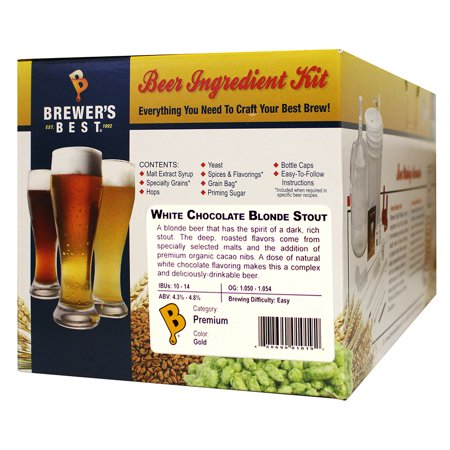 Brewer's Best White Chocolate Blonde Stout 5 Gallon Beer Ingredient