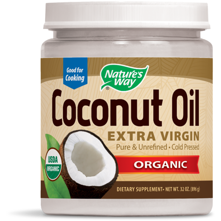 Natures Way Organic Extra Virgin Coconut Oil Cold-Pressed 32