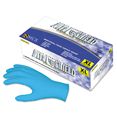 Memphis MPG6015L Disposable Nitrile Gloves Large 4 mil Powder-Free 100 Count
