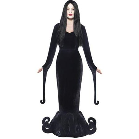 Morticia Dutchess Of The Manor Adult Costume - Morticia Addams Style Dress