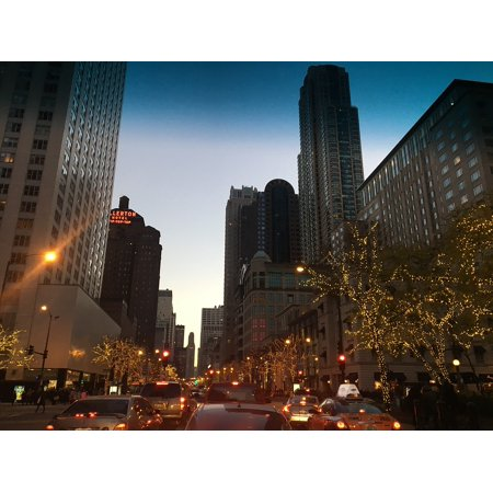 Canvas Print Architecture Chicago Building Downtown City Stretched Canvas 10 x - Halloween Parties In Downtown Chicago