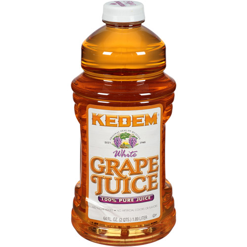 Kedem 100% Juice, White Grape, 64 Fl Oz (Pack of 8)