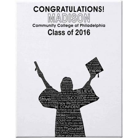 Personalized Graduation Autograph Canvas, 11