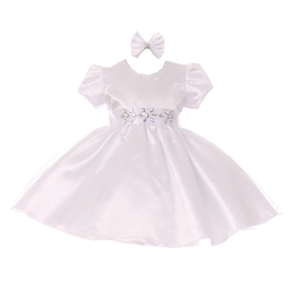 5d1ed4504 White Sparkle Flower Girl Dresses – DACC