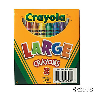 8-Color Crayola® 8 Pc. Large Crayons(pack of 2)