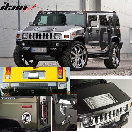 Fits 03 05 Hummer H2 Door Handle Chrome Exterior Gas Door Cover