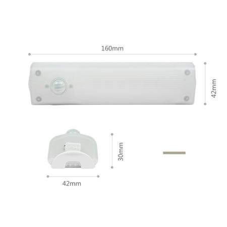 Détection Mouvement PIR Batterie Rechargeable 10 LED Lumière Penderie Cabinet des escaliers - image 5 de 8