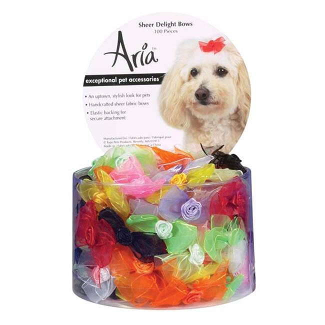 Aria DT157 99 Aria Sheer Delight Bows Canister 100/Pcs