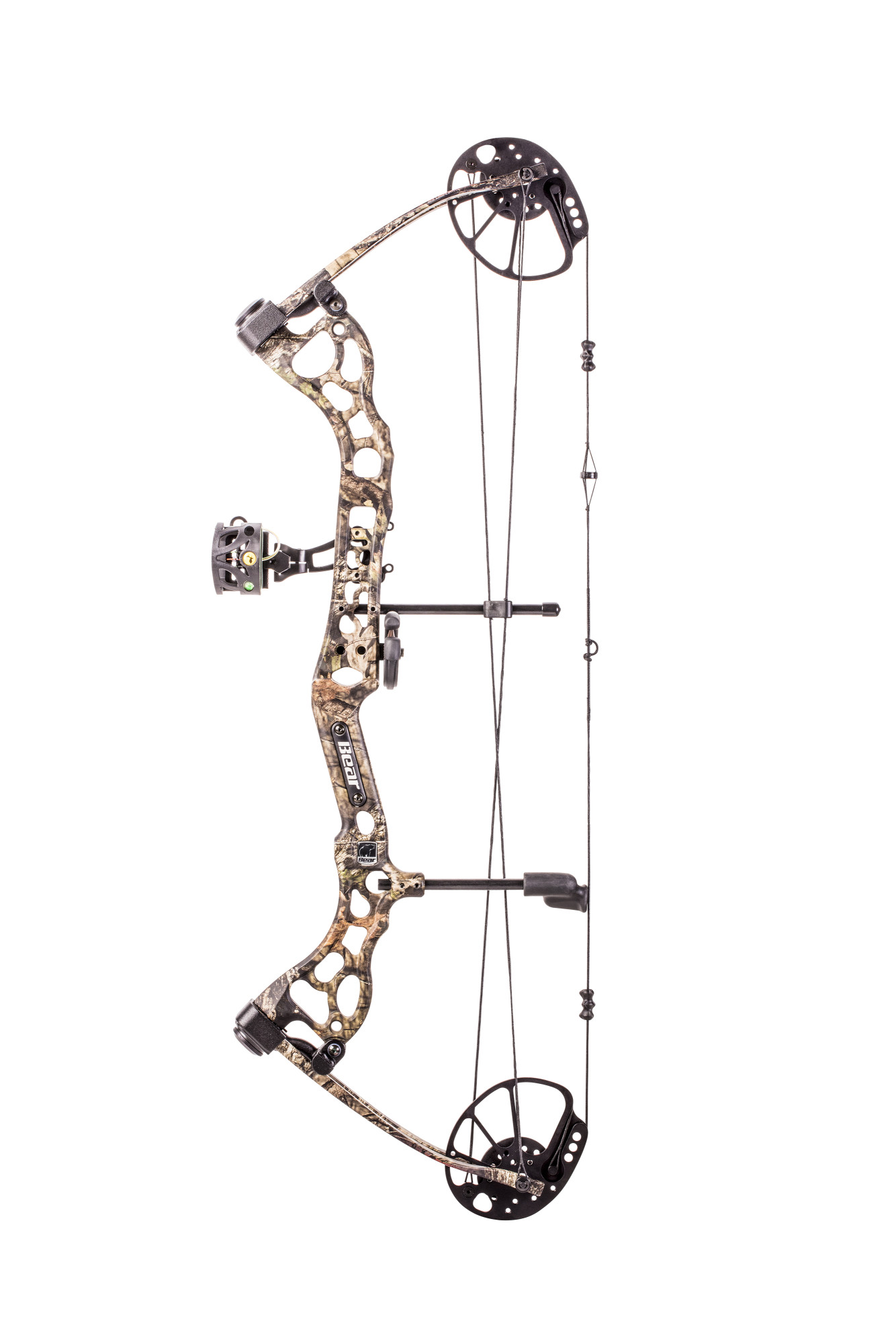 Bear Archery Pledge Compound Bow Includes Trophy Ridge Mist 3-Pin Sight and  Whisker Biscuit arrow rest