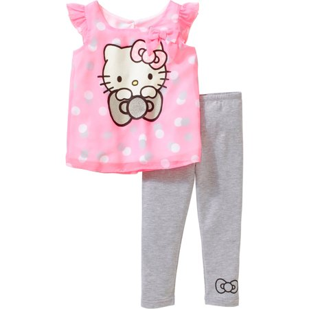 Hello Kitty Toddler Girl High-Low Tunic and Legging Outfit Set