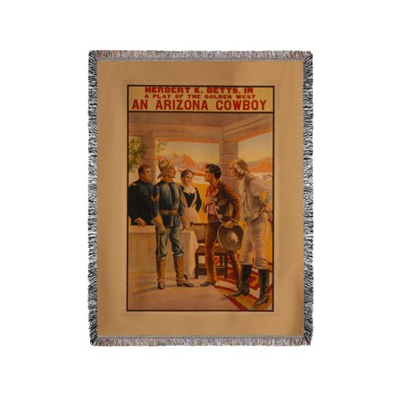 An Arizona Cowboy - Western Play Poster (60x80 Woven Chenille Yarn Blanket)