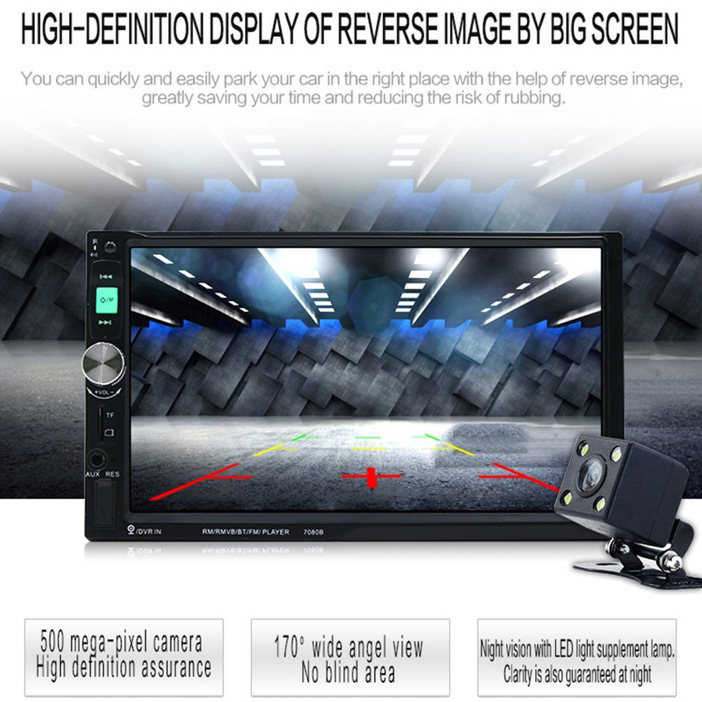 2018 Thanksgiving,7080B Car Video Player 7 Inch with HD Touch Screen Bluetooth Stereo Radio