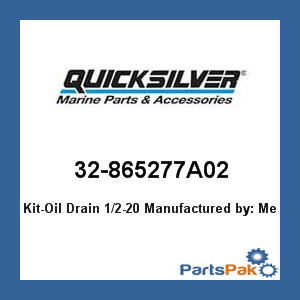 Mercury - Mercruiser 32-865277A02 Mercury Quicksilver 32-865277A02 Kit-Oil Drain (Mercruiser Drain)