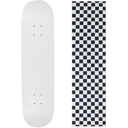 Skateboard Deck Blank Dipped White 7.5