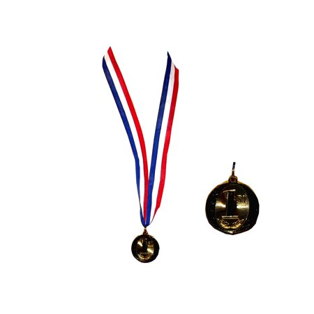 Beistle Olympic Style 1st Place Gold Colored Medal, 18.5 X 2 inches - First Place Medal