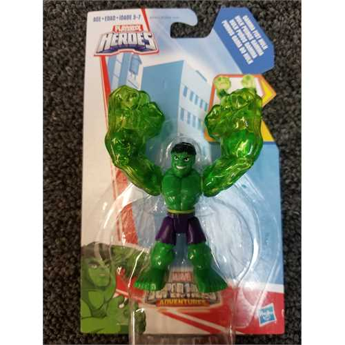 Playskool Heroes Marvel Super Hero Adventures Gamma Fist Hulk Figure by