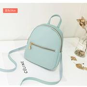 Women Mini Backpack Faux Leather Zipper Rucksack Travel Handbag