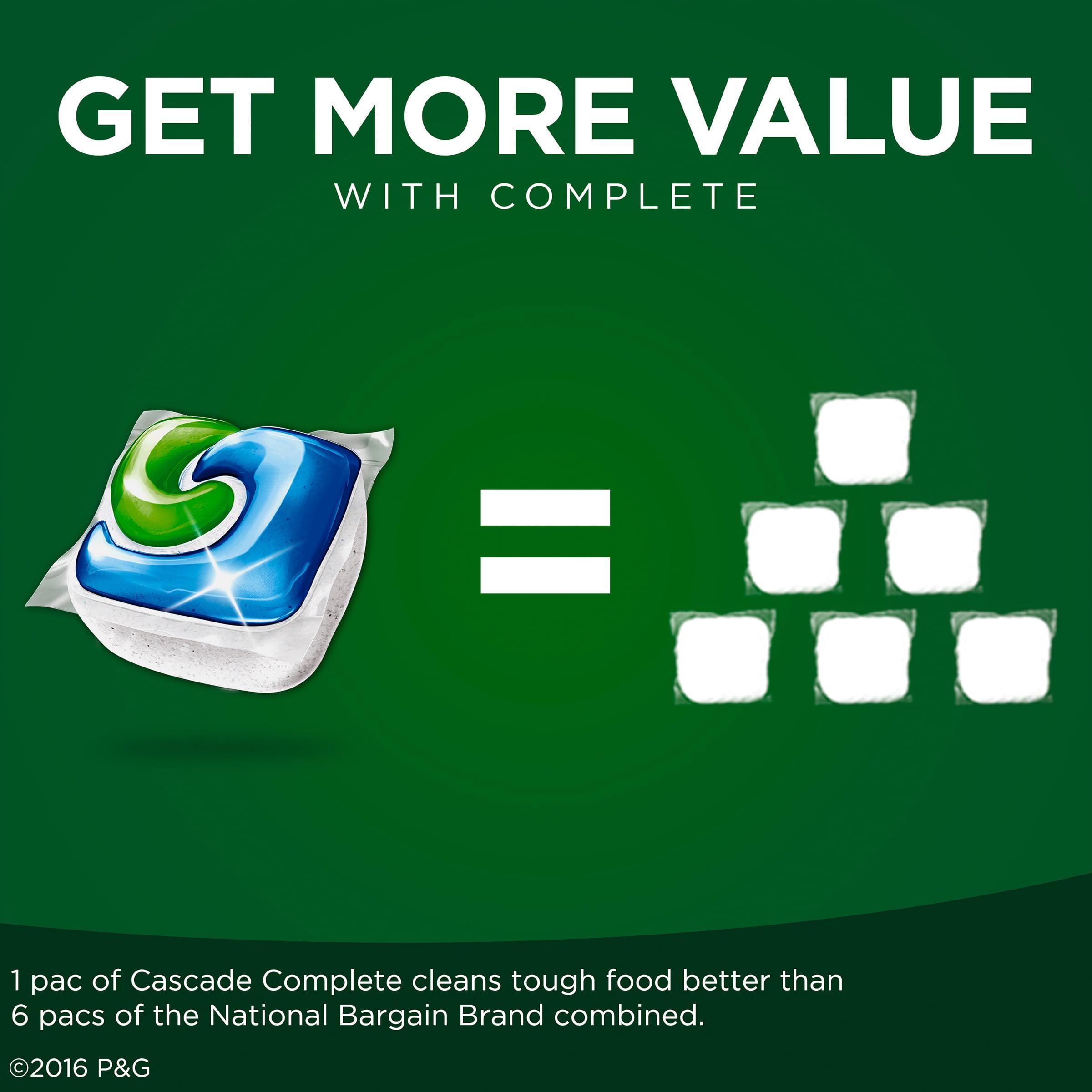 Cascade Complete Dishwashing Detergent Actionpacs Fresh Scent 78 Ct